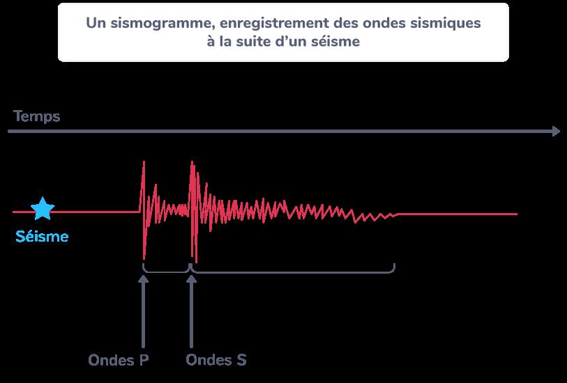 séisme trois types ondes R P S