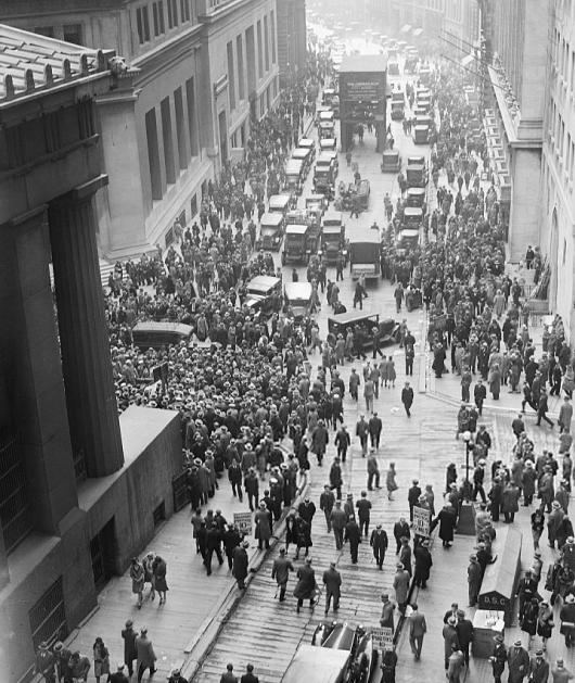 Wall Street bourse Krach 1929