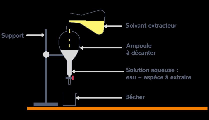 étape 1 protocole expérimentation extraire entité solvant