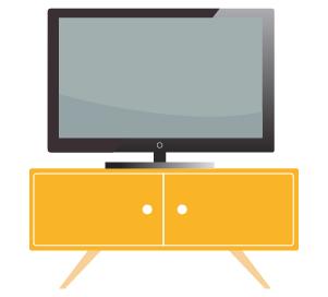 télévision bien matériel biens services
