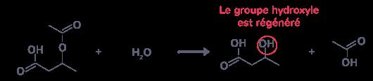 régénère groupe hydroxyle réaction inverse à celle qui a permis de le protéger
