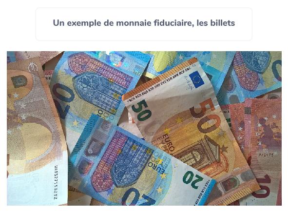 définition monnaie fiduciaire