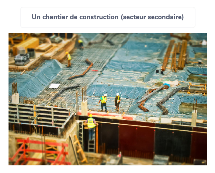 secteur secondaire entreprises domaine industrie construction