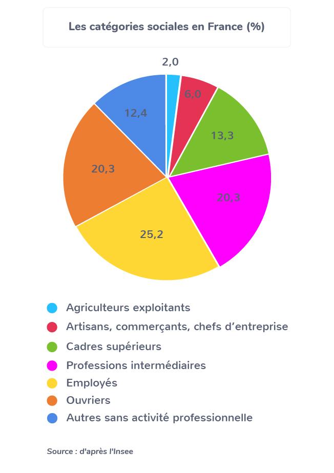 8 catégories socioprofessionnelles