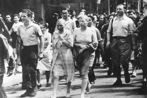 Seconde Guerre mondiale femmes tondues humiliées accusations