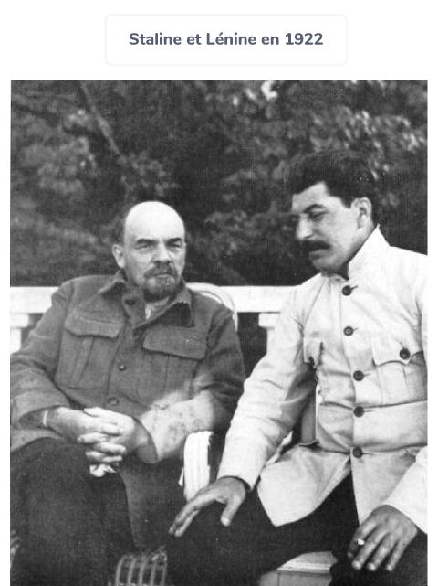 Staline Lénine dictature URSS