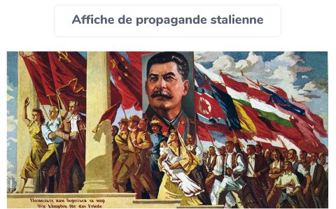 propagande Staline régime totalitaire dictature