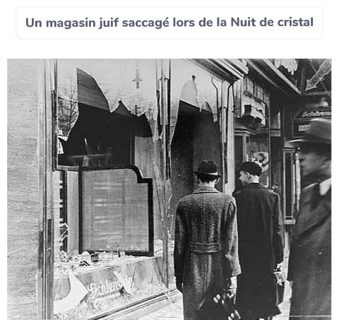 Nuit de Cristal magasin saccagé Allemagne