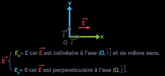 orientation vecteur champ électrique