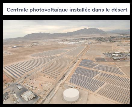 Centrale photovoltaïque installée dans le désert