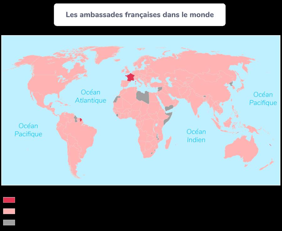 rayonnement France monde ambassades