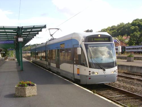 tram-train Saarbrücken Allemagne Sarreguemines France