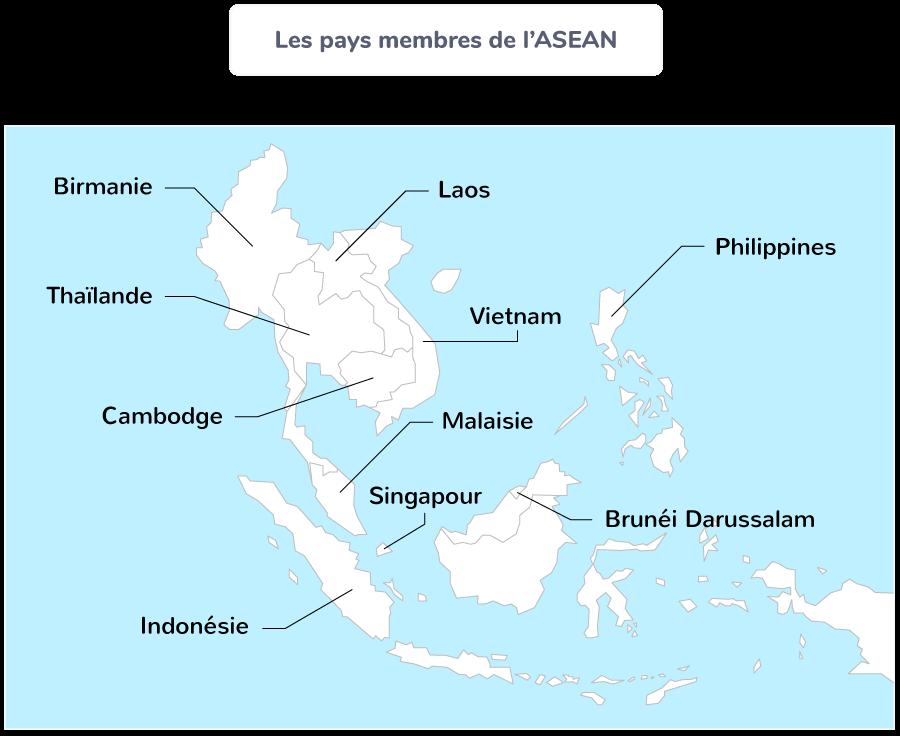 Les pays membres de l'ASEAN