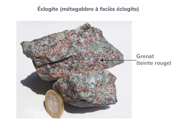 Éclogite (métagabbro à faciès éclogite)