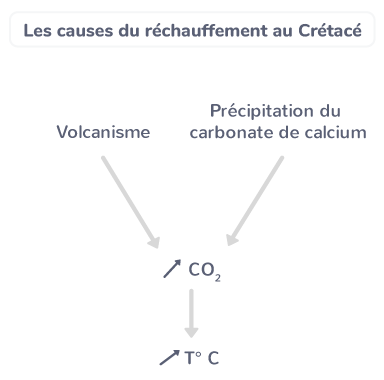 Les causes du réchauffement au Crétacé.
