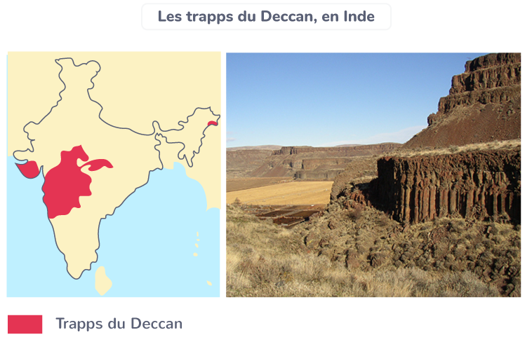 Les Trapps du Deccan, en Inde