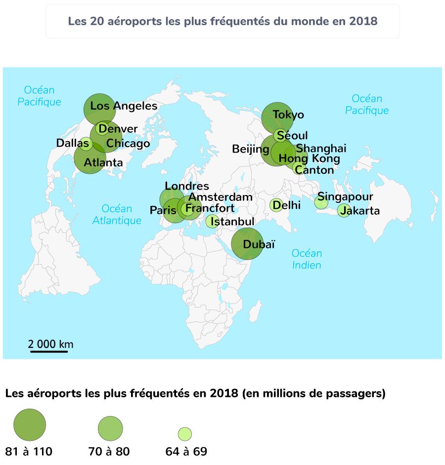 Les 20aéroports les plus fréquentés du monde en 2018