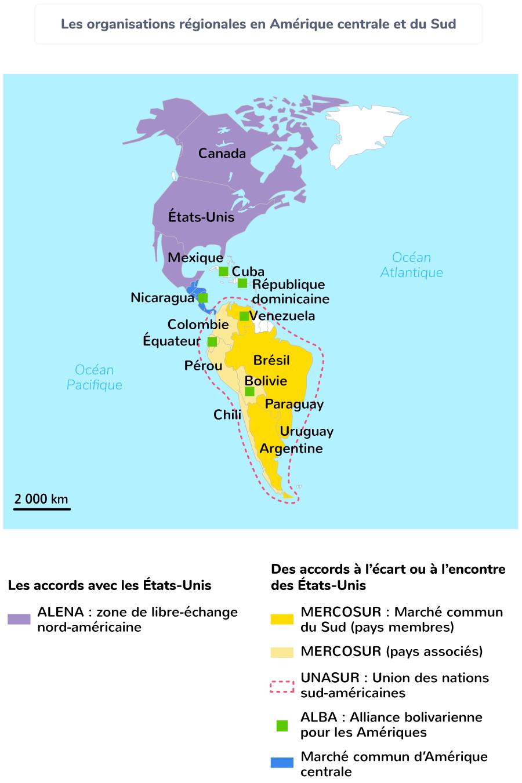 Les organisations régionales en Amérique centrale et du Sud