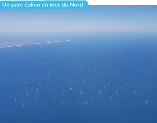 Un parc éolien en mer du Nord
