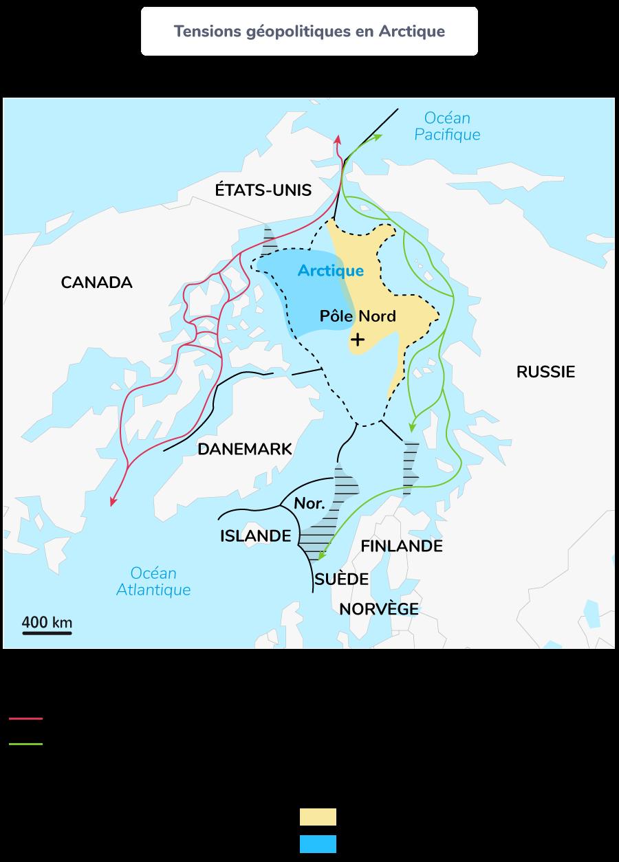 Tensions géopolitiques en Arctique