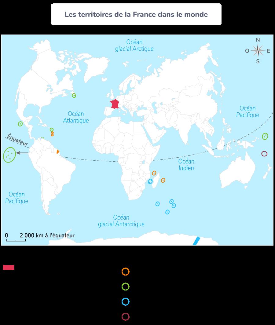 Les territoires de la France dans le monde