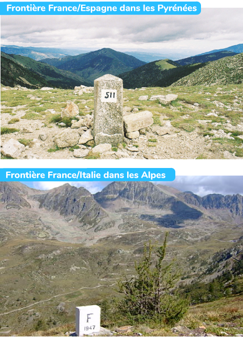 frontières France Espagne Italie Pyrénées Alpes