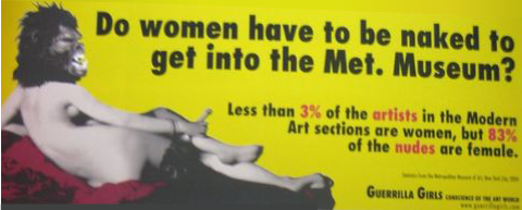 Do women have to be naked to get into the Met. Museum?, 1989