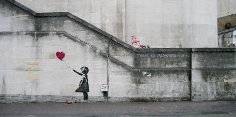 Girl with Balloon, South Bank, London, 2002