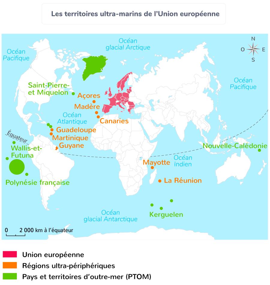 union européenne paysages carte