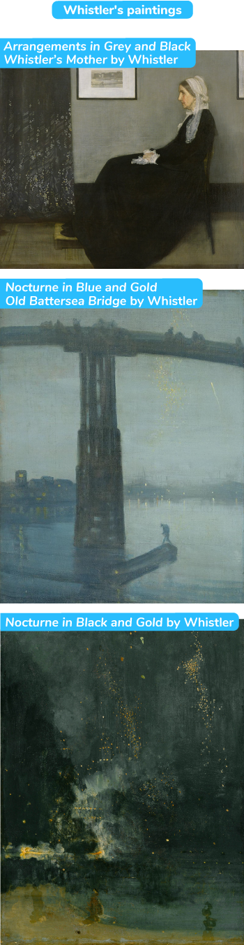 Arrangements in Grey and Black – Whistler's Mother by Whistler / Nocturne in Blue and Gold – Old Battersea Bridge by Whistler