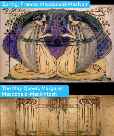 Spring, Frances Macdonald-MacNair The May Queen, Margaret  Macdonald-Mackintosh