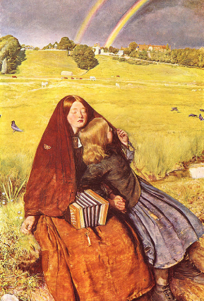 The Blind Girl by John Everett Millais (1856)