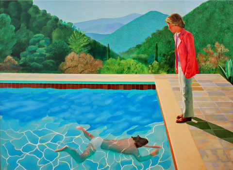 Portrait of an Artist (Pool with Two Figures) by David Hockney, 1972