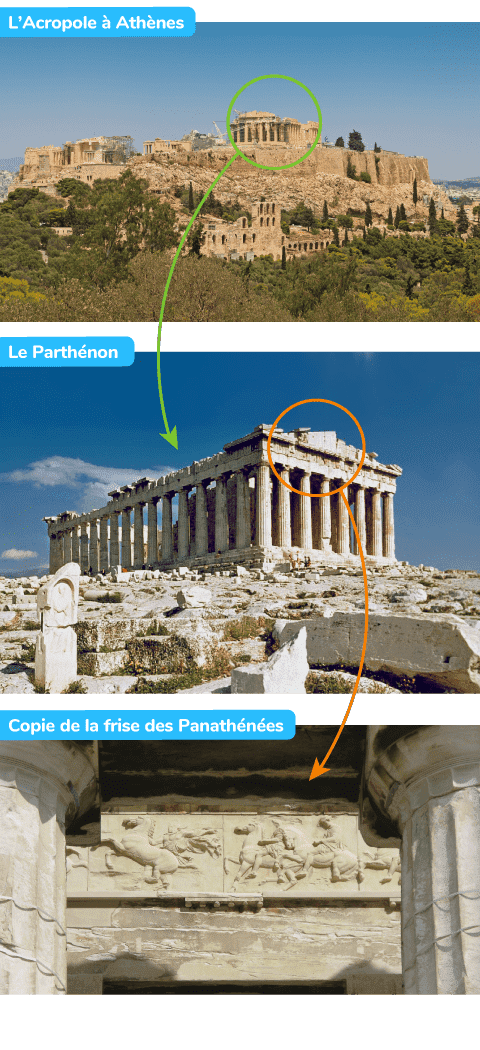 parthénon frise des panathénées Athènes Acropole