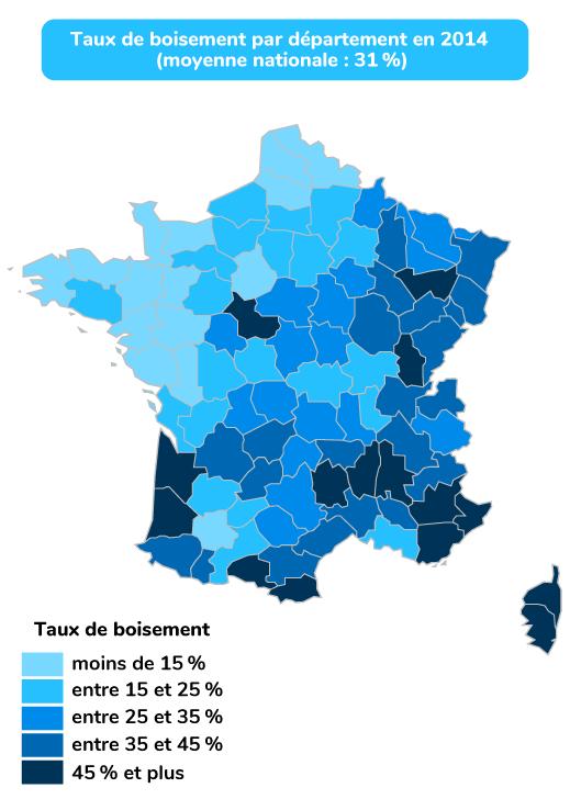 quatre grandes régions forestières France