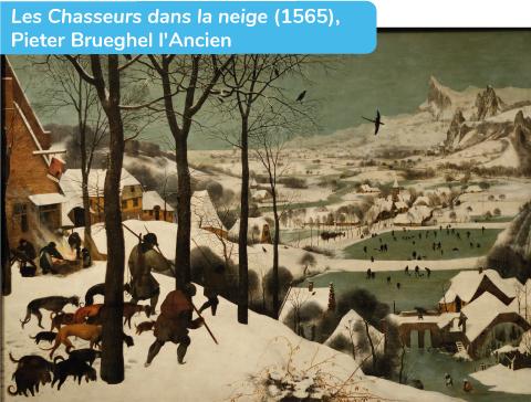 peinture hollandaise montrant la rigueur des hivers en Hollande