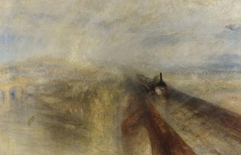 William Turner,Pluie, Vapeur et Vitesse – Le Grand Chemin de fer de l'Ouest, 1844