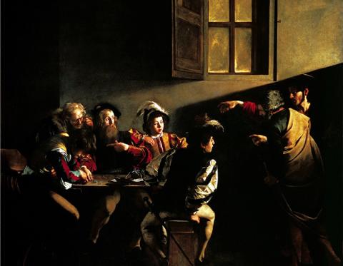 Le Caravage, La Vocation de saint Matthieu, 1599−1600