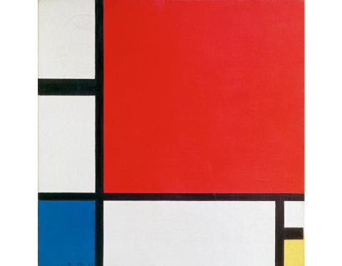 Piet Mondrian, Composition II en rouge, bleu et jaune, 1930