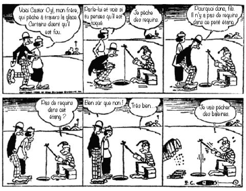 E.C. Segar, The Thimble Theater, planche publiée en 1920