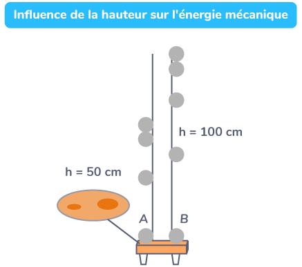 Influence de la hauteur sur l'énergie mécanique