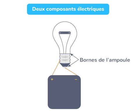 Deux composants électriques